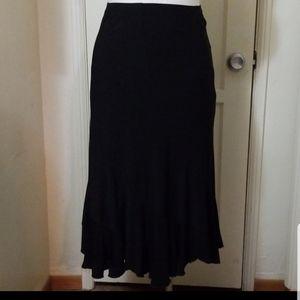 Sale WORTHINGTON STRETCH black ruffle hem skirt